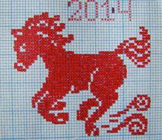cavallino rosso perline