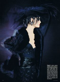 UK Vogue September 1984 Paris Couture: Other Wordly Photo Paolo Roversi Models Talisa Soto & Betty Lago