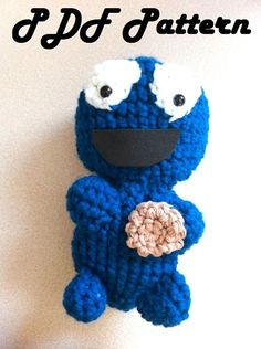 PDF pattern for crochet cookie monster Crochet Monsters, Cookie Monster, Crochet Patterns, Crochet Hats, Pdf, Trending Outfits, Unique Jewelry, Handmade Gifts, Projects