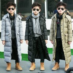 49.00$  Watch now - http://alintu.worldwells.pw/go.php?t=32782817857 - The boy padded long thick jacket padded jacket winter long in England 49.00$