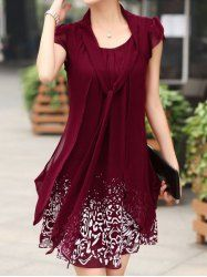 From sammydress com cheap short sleeves chiffon dresses sammydress com