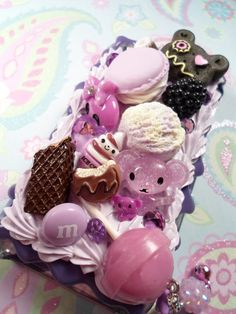 Sweet Lilac Ice Cream Party Decoden Kawaii Deco by Lucifurious, $48.00