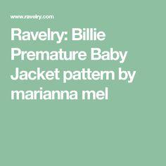 Ravelry: Billie Premature Baby Jacket pattern by marianna mel