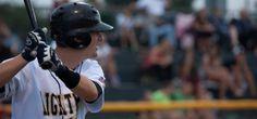 Leesburg player up to bat. Lightning, Riding Helmets, College, Baseball, Baseball Promposals, University, Lightning Storms, Lighting, Colleges