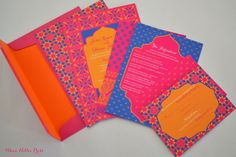 Wedding Invitations  Colorful Moroccan by WhoaNelliePress on Etsy