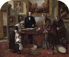 The Foundling Restored to its Mother, 1858, Emma King Brownlow (1832-1905), The Foundling Museum.
