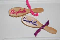 Personalized Hair Brush by limetreegifts on Etsy, $10.50
