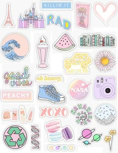 "Stickers - handy -Pastel Stickers - handy - ""Aesthetic Stickers Stickers by lordwatermelon Tumblr Stickers, Phone Stickers, Kawaii Stickers, Diy Stickers, Planner Stickers, Free Printable Stickers, Sticker Ideas, Trendy Wallpaper, Aesthetic Iphone Wallpaper"