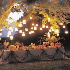 Lighting for an outdoor wedding....
