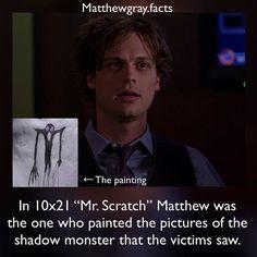 Ewwww, Mr scratch Dr Reid | Criminal Minds