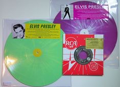 Online veilinghuis Catawiki: Elvis Presley - 2 very limited (300 copies each) LP's on splatter vinyl: The Dorsey Brothers Show 1956 / The Ed Sullivan Show 1956-57 & Jailhouse Rock-The Alternate Album + Bossa Nova Baby Ltd. 7inch single - Revised version on 'Heineken'- green vinyl!
