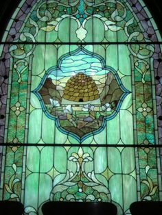 DUP stain glass window SLC