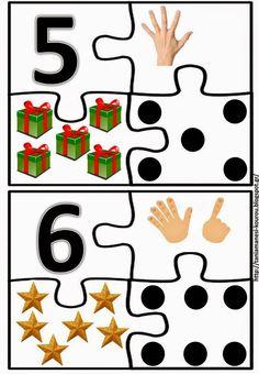 Number puzzle for kids - Senses Activities, Counting Activities, Kids Learning Activities, Math Games, Preschool Education, Preschool Math, Kindergarten Math, Teaching Math, Numbers For Kids