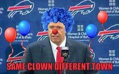 "Buffalo's Head ""Clown"" Coach  Rex Ryan"
