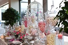 Pink & white lolly buffet