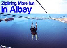 ZIPLINING. More FUN in Albay!