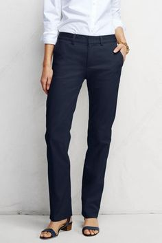 Women's Fit 2 Mid Rise Straight Leg Chino Pants from Lands' End