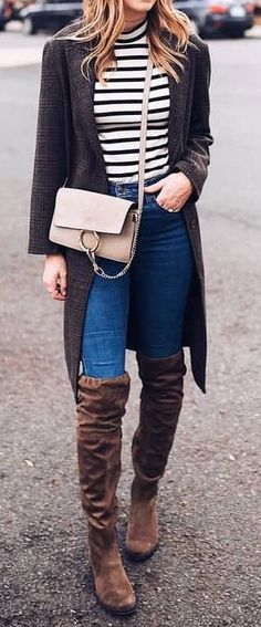 150 Fall Outfits to Copy Right Now Vol. 2. Winter-outfits FrauenHerbst  OutfitsHerbstmode 2018WintergarderobeBeige StiefelGraue ... 6008e13641