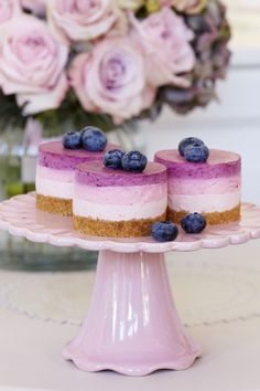 Triple Berry Cheesecakes | Woman