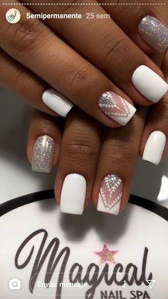 Nail Designs, Nail Art, Beauty, Finger Nails, Vestidos, Short Nail Manicure, Nail Manicure, Indian Nails, Tribal Nail Designs