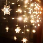 Christmas 20 LED Snowflake Fairy String Curtain Window Light Wedding Party Decor