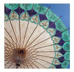 OOAK Handpainted Paper Parasol - Mandala Sun Umbrella