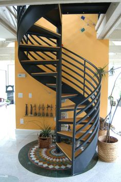 The perfect spiral staircase for an attic-to-master-suite remodel. Attic Bedroom Small, Attic Rooms, Attic Bathroom, Bathroom Black, Bathroom Kids, Attic Renovation, Attic Remodel, Attic Game Room, Attic Playroom