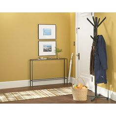 Slim Modern Console Tables in Natural Steel - Modern Console Tables & Storage - Entryway - Room & Board