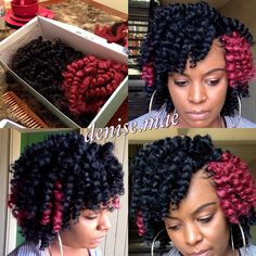what my morning consisted of! #crochetbraids #stylesbybobbitt #naturalhairdaily #protectivestyles #marleyhair #rods
