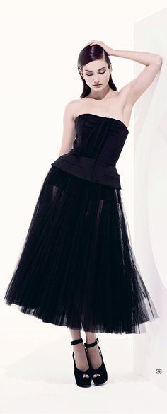 Dior Little Black Dress | Dior Resort 2013