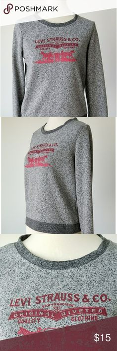 "Vintage Style Levi Strauss Print Retro Sweatshirt Retro Vintage style printed sweatshirt Levi Strauss & Co  Size Medium   Measurements armpit to armpit: 19"" length from shoulder: 22"" sleeve length: 23"" Levi's Tops Sweatshirts & Hoodies"