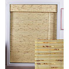 Stunning natural bamboo Roman shades are carefully woven to filter the light in  Window treatment is made with real bamboo and other environmentally friendly materials  Blinds lend a warm and appealing touch to your home decor