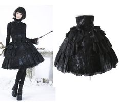 Pyon-Pyon-Tuell-Rock-Gothic-Princess-Rose-Punk-Rave-Skirt-Steampunk-Lolita-LQ28