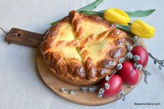 Sour cream and cake dough Pasta, Pastry Cake, Sour Cream, Camembert Cheese, Dairy, Sweets, Cooking, Breakfast, Recipes
