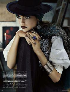 FOLK DANDY Vogue Deutsch, May 2013 ph. Giampaolo Sgura fashion editor: Christiane Arp hair: Tomohiro Ahashi make-up: Jessica Nedza model: Karlina Caune