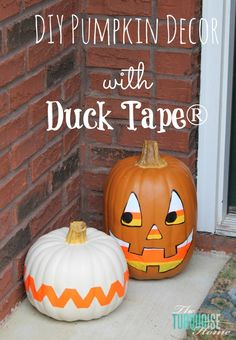DIY Pumpkin Decor with Duck Tape® #ad