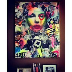#artcollector #glamorous #beauty #mixedmedia #fashion #suitandtie #lipstick #dain by dain_nyc
