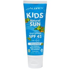 Health Food Store Find: Aubrey Organics Natural Sun Sunscreen For Kids, Unscented, SPF 45