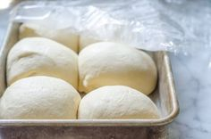 The Best Pizza Dough for Grilling  | The Kitchn.  Good divided into 6 rather than 8 portions.