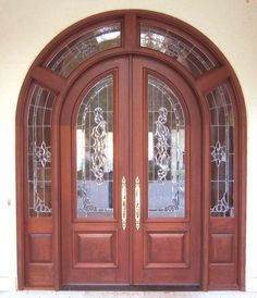 How To Use Double Front Doors For Make The Entrance Impressionable - Interior Design Inspirations House Main Door Design, Main Entrance Door Design, Exterior Entry Doors, Double Door Design, Front Door Design, Gate Design, Entrance Doors, Double Front Doors, Wood Front Doors