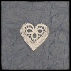 Heart bobbin lace, Slovenian lace, Idrija bobbin lace, pillow lace by CraftyKaja on Etsy