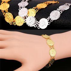 US Dollar Symbol Bracelets Women Men Jewelry Gift Trendy Chain Coin Bracelets & Bangles