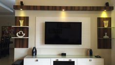 New Living Room Black Tv Stand Shelves Ideas Indian Living Rooms, New Living Room, Living Room Decor, Living Area, Tv Unit Decor, Tv Wall Decor, Tv Shelving, Tv Stand Shelves, Tv Unit Furniture