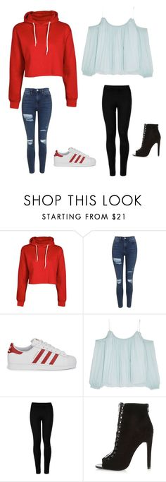 """""""Untitled #379"""" by makaylasmith-i ❤ liked on Polyvore featuring Topshop, adidas Originals, Elizabeth and James, Wolford and River Island"""
