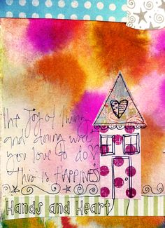 The joy of living, art journal page