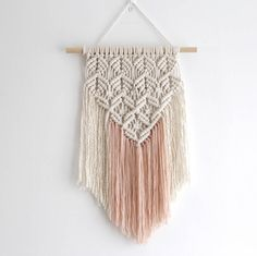 Lace Effect Macrame Wall Hanging