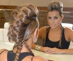 :)!Love this braid!: It would look great with the side sections french braided from the temples too