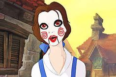 """If Disney Princesses Were The Doll From """"Saw""""// haha wtf  tags : lol animation saw movie film fun funny"""