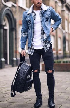 23 denim jacket outfits you& love - Tess Kaiser -.- 23 Jeansjacke-Outfits, die Sie lieben werden – Tess Kaiser – 23 denim jacket outfits you& love – Tess Kaiser – - Stylish Mens Outfits, Casual Outfits, Men's Outfits, Casual Jeans, Dress Casual, Cool Outfits For Men, Winter Outfits Men, Jeans Style, Mode Man