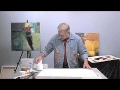 professional abstract artist Bob Burridge shows you how he sets up his studio to prepare to paint!  He'll explain what materials he sets out, where he places them, and he'll finish with a demonstration on how to tear your watercolor paper and leave the deckled edge.